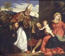 Holy Family with Saint Ambrose Presenting a Donor