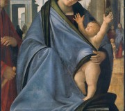 Madonna and Child with a Male Figure
