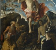 Resurrection of Christ, St. Jerome, St. John the Baptist and the Donors Ottaviano and Domitilla Vimercati at Prayer