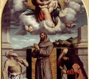 Madonna and Child in Glory with Saints Jerome, Francis and Anthony of Egypt