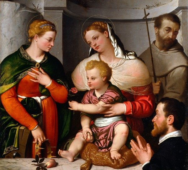 Madonna and Child with Saints Catherine and Francis and the Donor