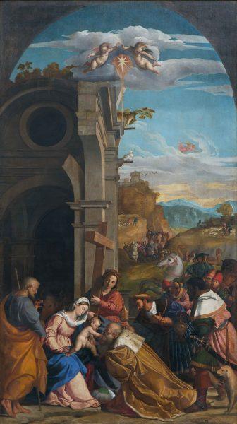 Adorazione dei Magi in presenza di Sant'Elena