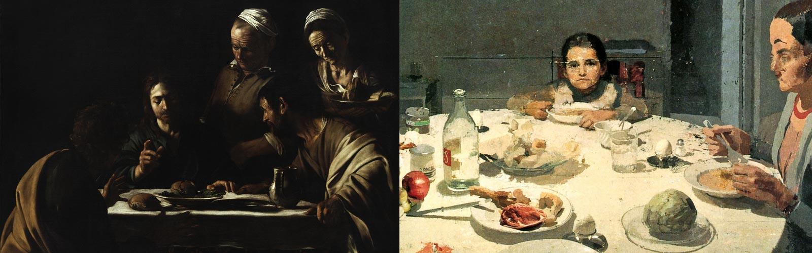 Antonio López García, Caravaggio. Cena per due, pittura della realtà