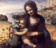 Madonna and Child with a Lamb