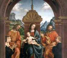 Madonna and Child, St. James, St. Philip and the Family of Antonio Busti
