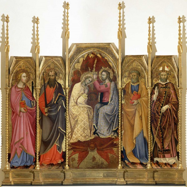Polyptych of the Coronation of the Virgin The Redeemer Blessing