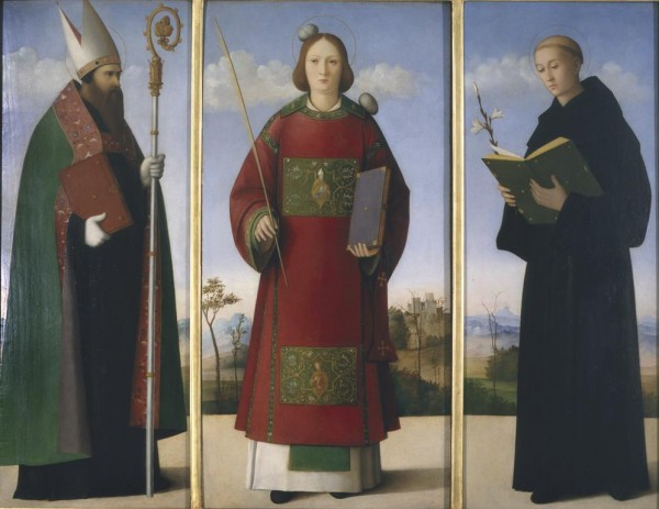 Saint Stephen between Saints Augustine and Nicholas of Tolentino