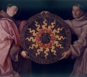 St. Louis and St. Francis Holding the Monogram of Christ