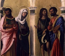 St. Luke, the Virgin, St. John the Baptist and St. Mark
