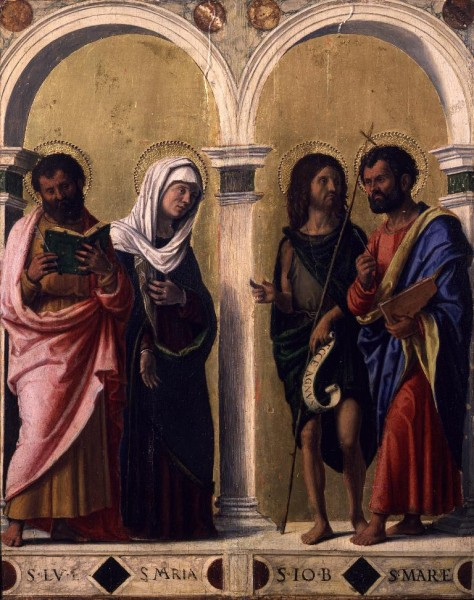 Saint Luke, the Virgin, Saint John the Baptist and Saint Mark