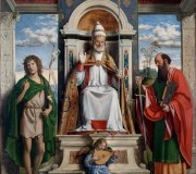 Saint Peter Enthroned with Saints John the Baptist and Paul