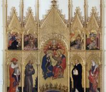 Incoronazione della Vergine e santi (Polittico di Valle Romita)