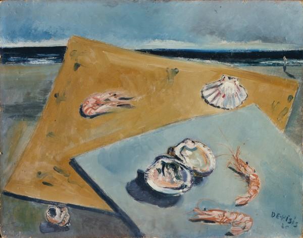 Natura morta marina con scampi