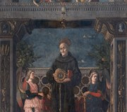 St Bernardino of Siena with Angels