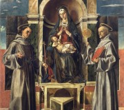 Madonna and Child Enthroned between Saint Francis and Saint Bernardino of Siena