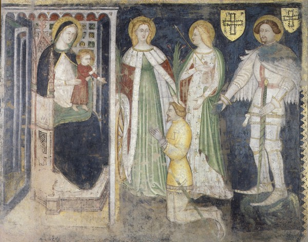 Madonna and Child with Saint Catherine, Saint Ursula, Saint George and the Devotee Teodorico da Coira