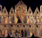 Trittico-reliquiario con Crocifissione, Annunciazione e trenta santi
