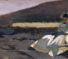 Seated Lady in Landscape