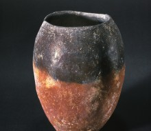 Black Topped Red Ware Vase