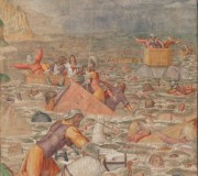 The Egyptian Army submerged by the Red Sea