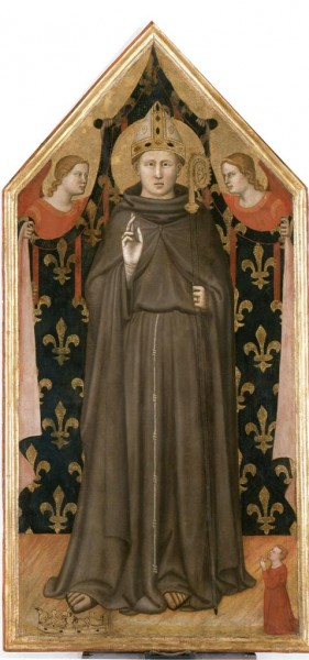 Saint Louis of Toulouse with Two Angels and a Donor