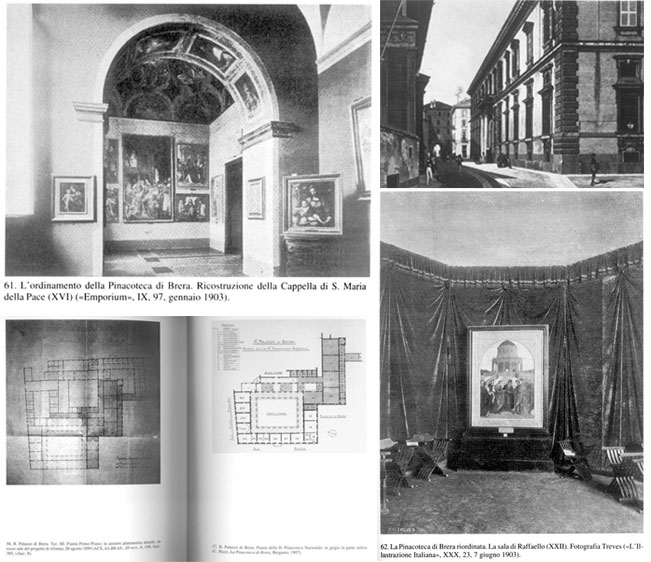 Other period photographs of the Pinacoteca di Brera.