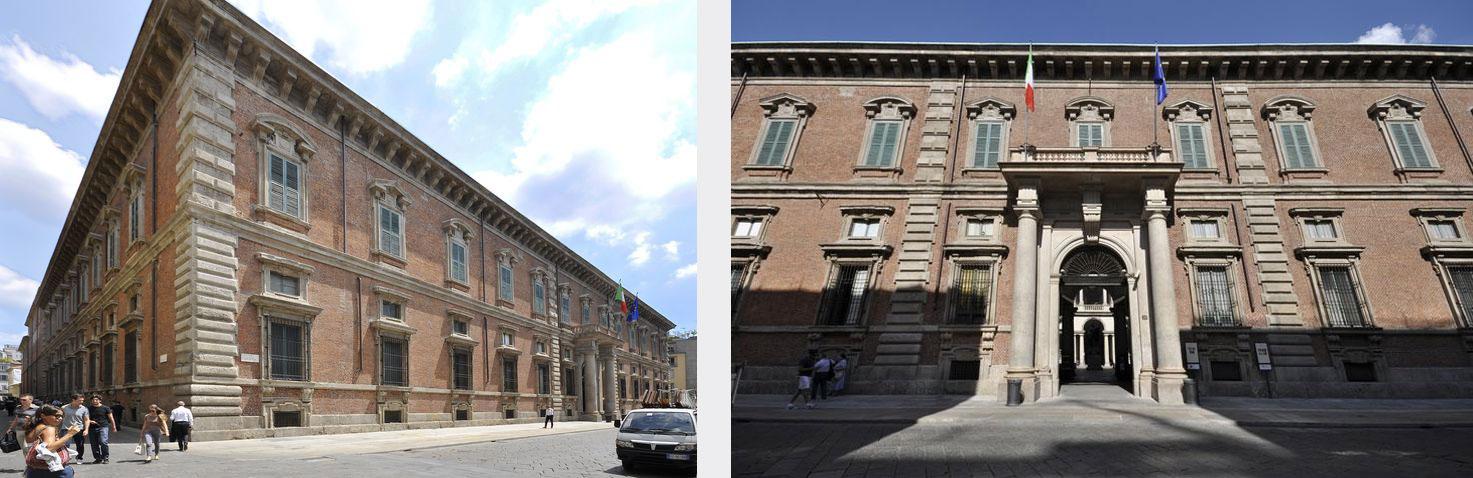 Palazzo Brera. Via Brera 28 - Ingresso. Entrando i visitatori si troveranno nel Cortile d'onore, percorrendo le scale si accede alla Pinacoteca. Al primo piano si trova la biglietteria e il punto informazioni, il deposito borse e il bookshop.