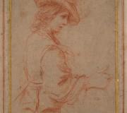 Mezza figura di giovane con profilo verso destra