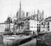 Demolizione del monastero di S. Salvatore per la costruzione della Galleria a Milano