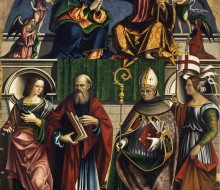 Coronation of the Virgin with St. Catherine of Alexandria, St. John the Evangelist, St. Bonaventure and St. Ursula