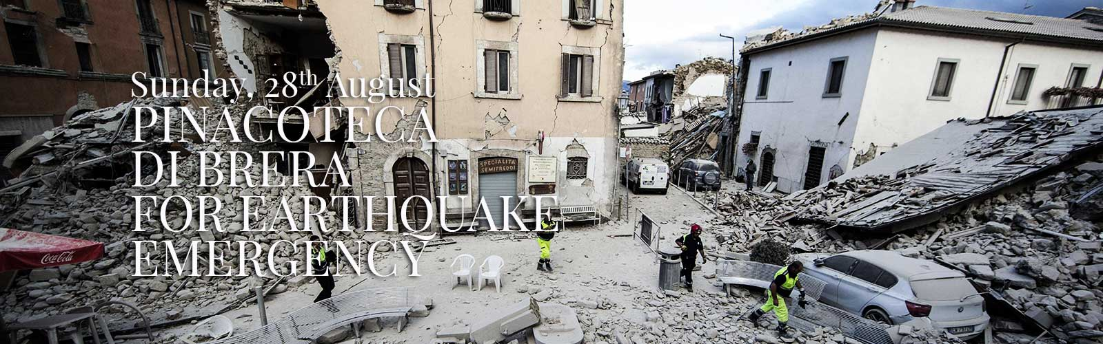 Pinacoteca di Brera to donate ticket sales on Sunday, August 28th to earthquake rescue efforts