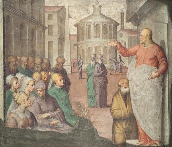 Jesus Preaching to the Crowds