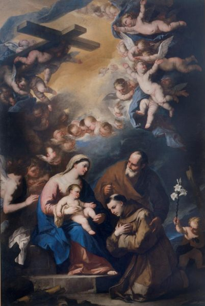The Holy Family Venerated By St. Anthony of Padua