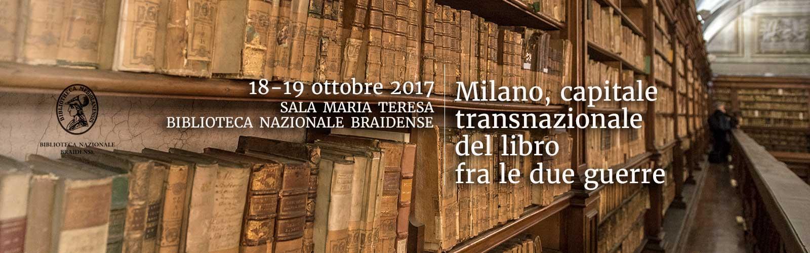 Milano, capitale transnazionale del libro fra le due guerre