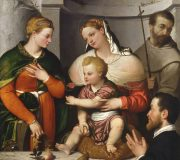 Madonna and Child with St. Catherine, St. Francis and the Donor