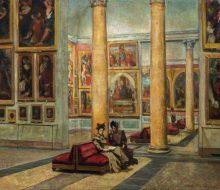 Interior of Pinacoteca di Brera