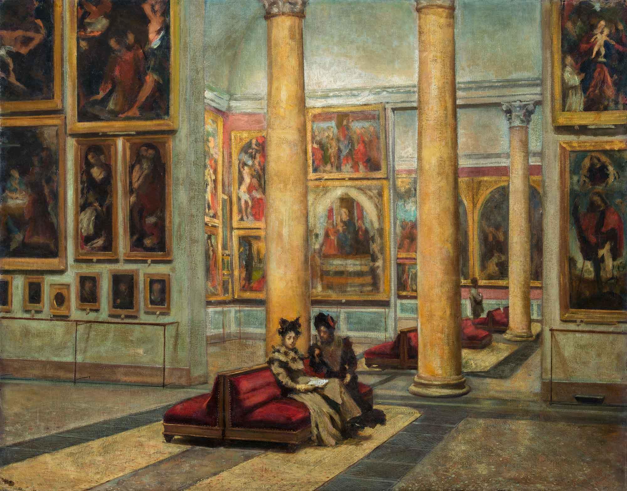 Interior Of Pinacoteca Di Brera Pinacoteca Di Brera