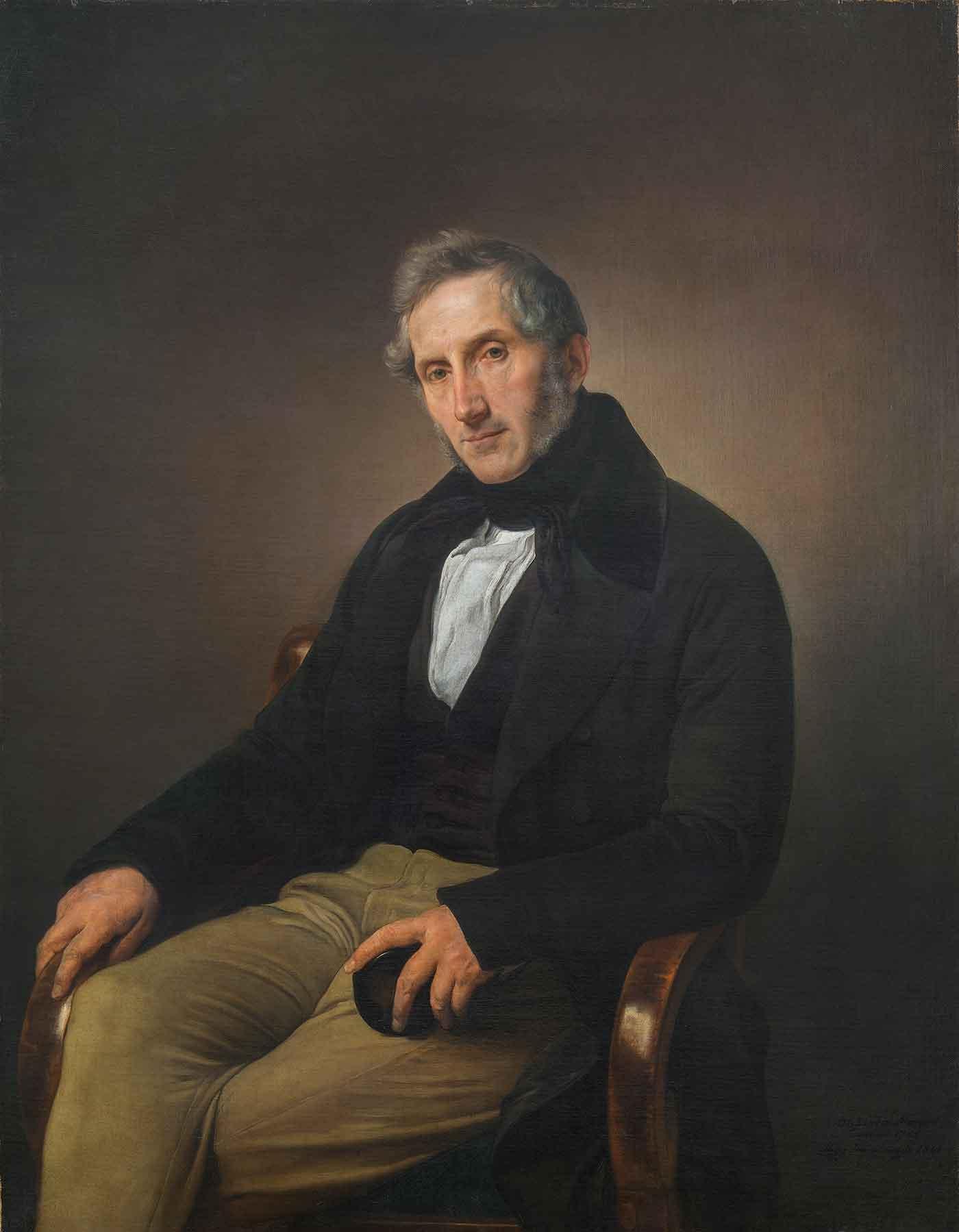 Ritratto di Alessandro Manzoni, Francesco Hayez dopo il restauro (fig. 10)