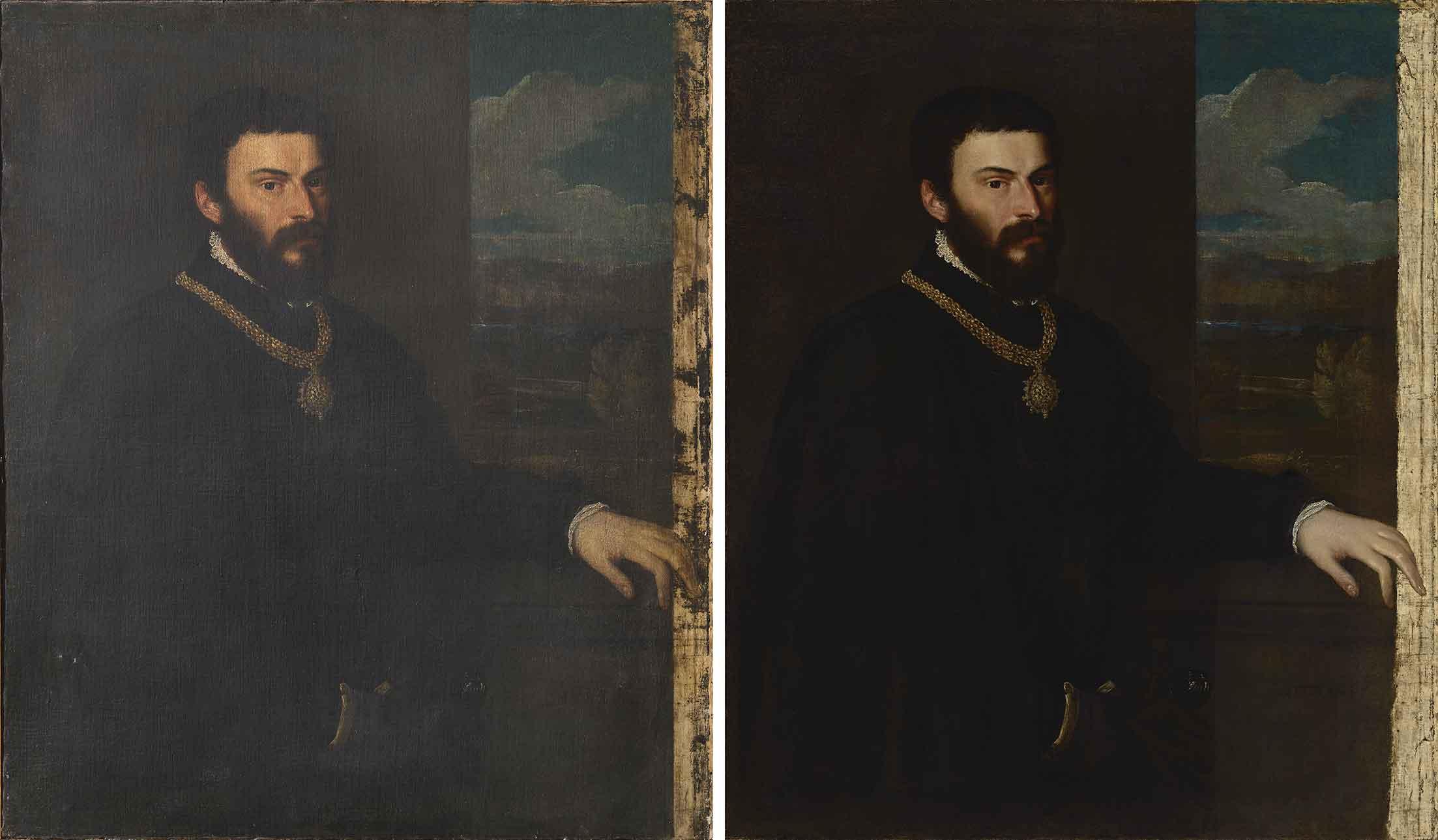 Il dipinto al termine del restauro, nella sua cornice (fig. 1)