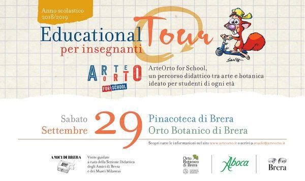 Educational Tour Milano-ArteOrto for school