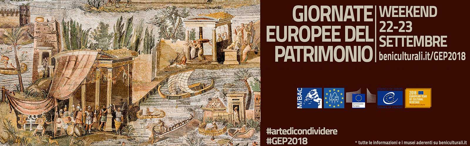 Giornate Europee del Patrimonio 2018<br><em>L&#8217;arte di condividere</em>