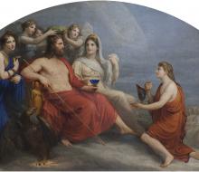 L'Olimpo (Giove incoronato di mirto dalle Ore porge a Ganimede il nappo per ricevere il nettare)