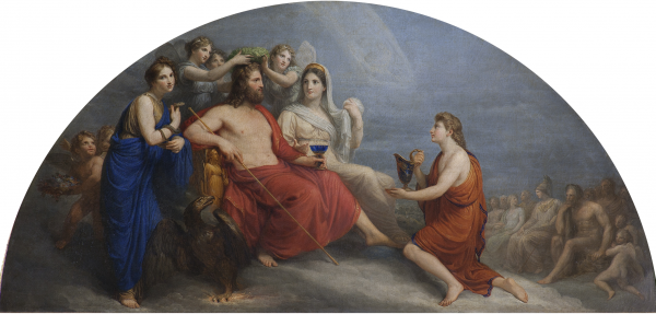 The Olympus (Jupiter, Crowned with Myrtle By the Hours, Proffers a Goblet to Ganymede to Be Served Nectar)