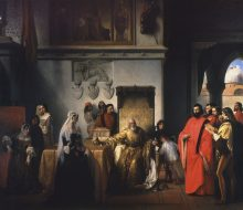 Il doge Francesco Foscari destituito