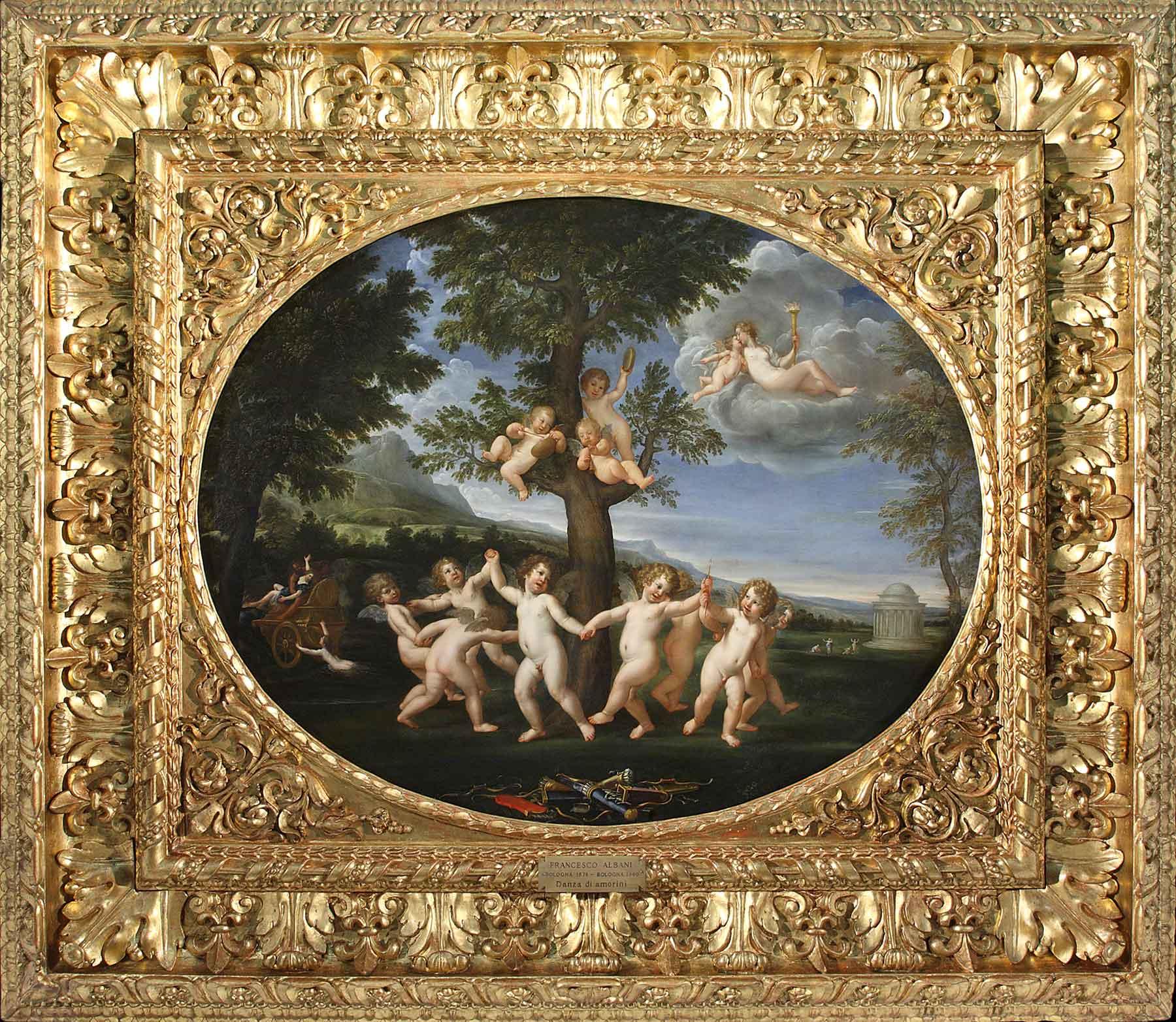 La Danza degli amorini nella sua cornice originale dopo il restauro (fig. 1)