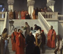 "The Final Moments of Doge Marin Faliero on the ""del Piombo"" Staircase"