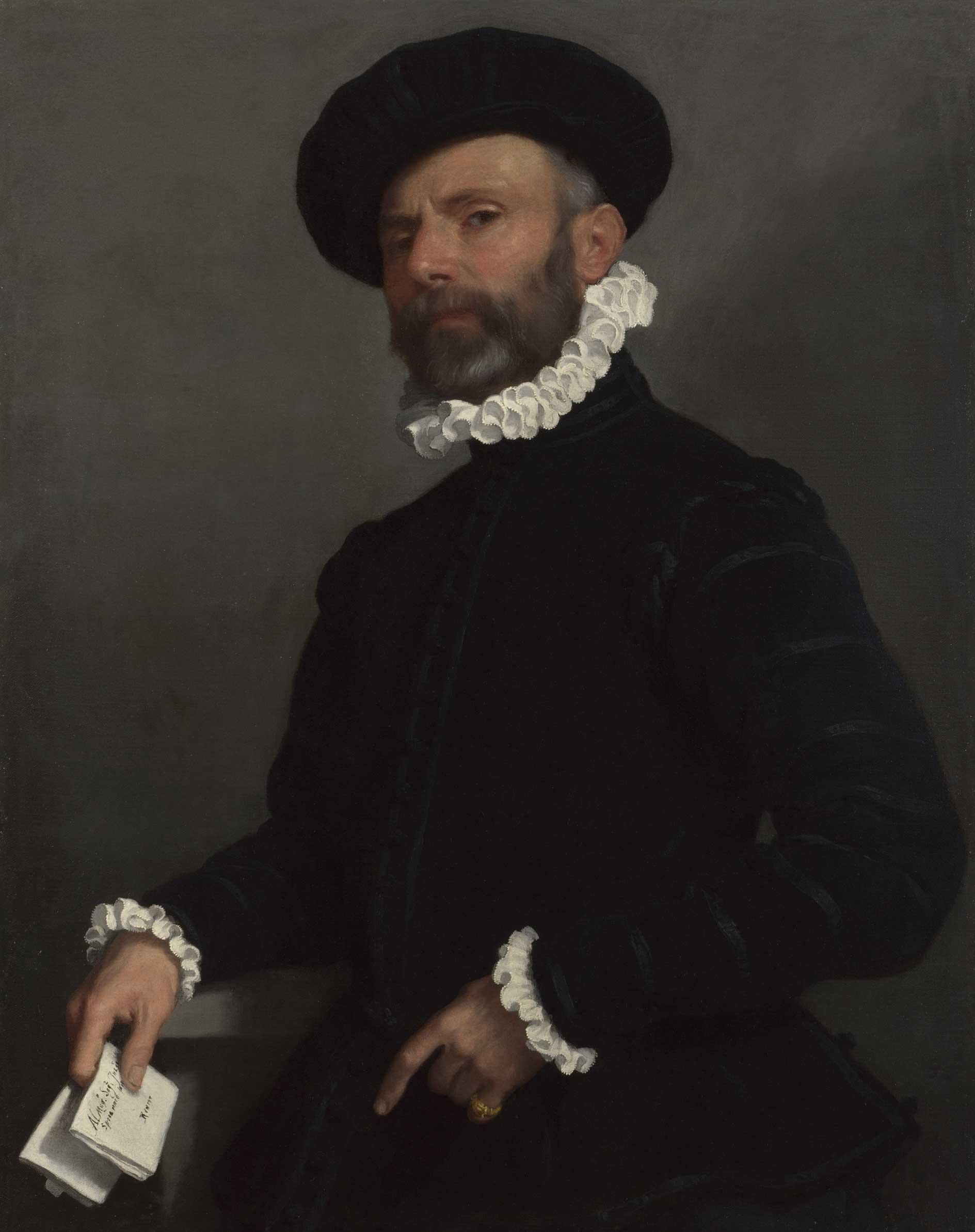 Ritratto di uomo con lettera (L'avvocato), Giovan Battista Moroni
