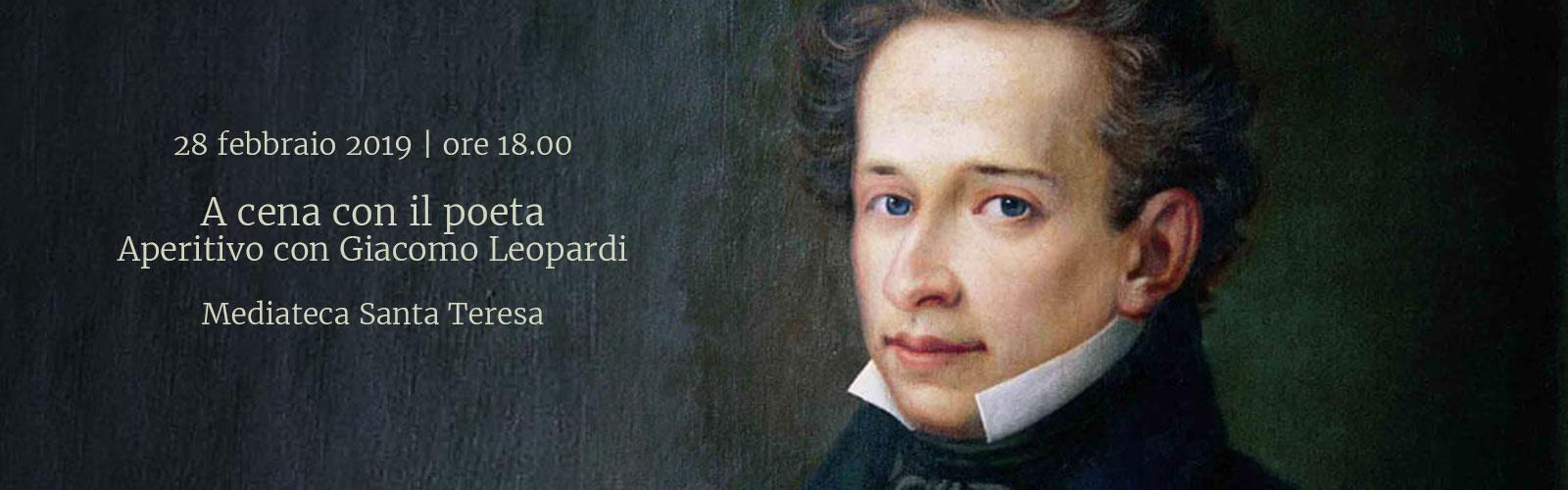 A cena con il poeta<br>Aperitivo con Giacomo Leopardi