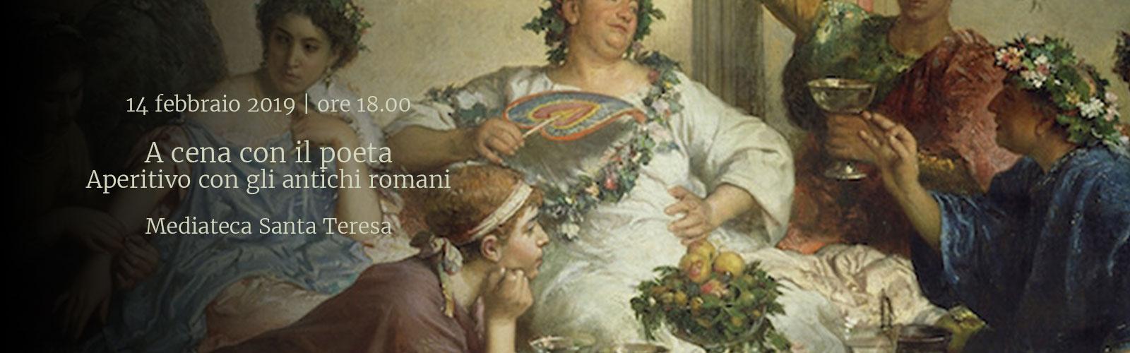 A cena con il poeta<br>Aperitivo con gli antichi Romani