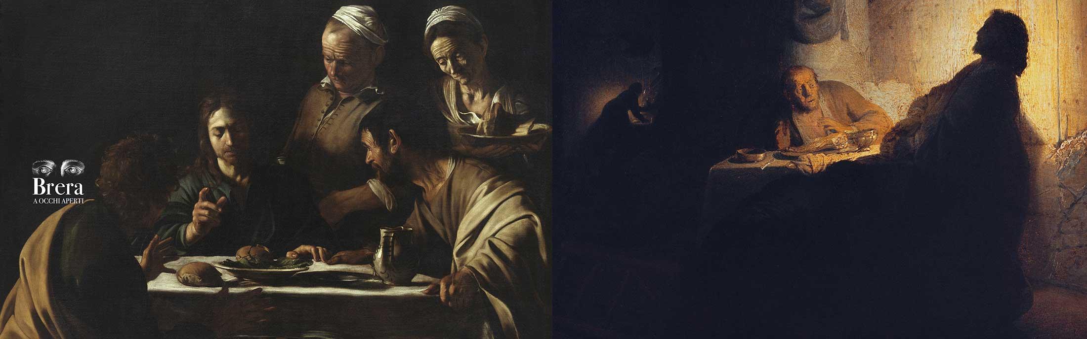 Ottavo dialogo<br><em>Attorno alla Cena in Emmaus.<br>Caravaggio incontra Rembrandt</em>